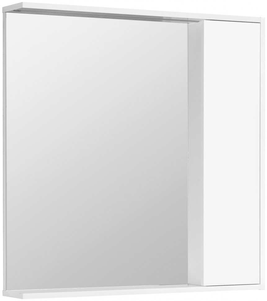 Зеркальный шкаф 80х83,3 см белый глянец R Акватон Стоун 1A228302SX010 зеркальный шкаф 65х85 см белый глянец r акватон домус 1a166202ll01r