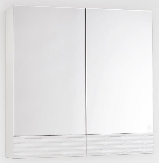 Зеркальный шкаф 70х70 см техно платина Style Line Ассоль LC-00000327 фото