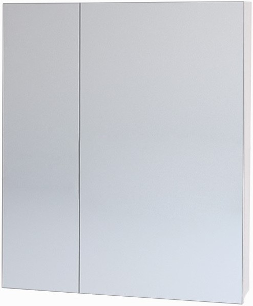 Зеркальный шкаф 60х70 см белый Dreja.eco Almi 99.9009 шкаф зеркальный topline rio 60х70 см правый белый