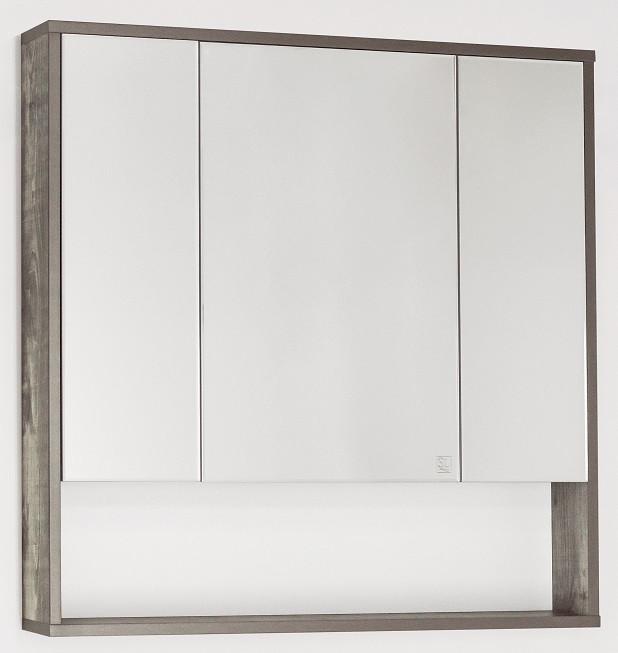 Зеркальный шкаф 80х80 см бетон Style Line Экзотик LC-00000399