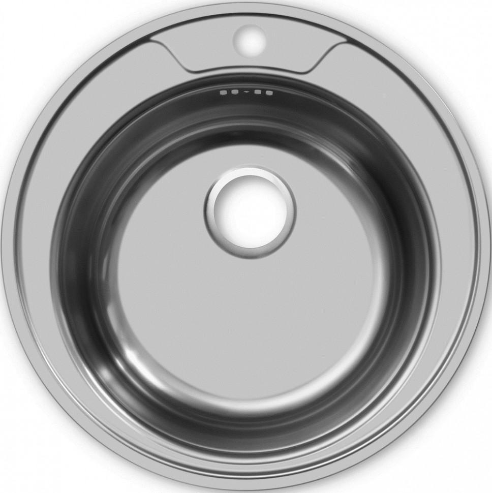 Кухонная мойка полированная сталь Ukinox Фаворит FAP510 -GT6K 0C ukinox fad 760 470 gt6k l
