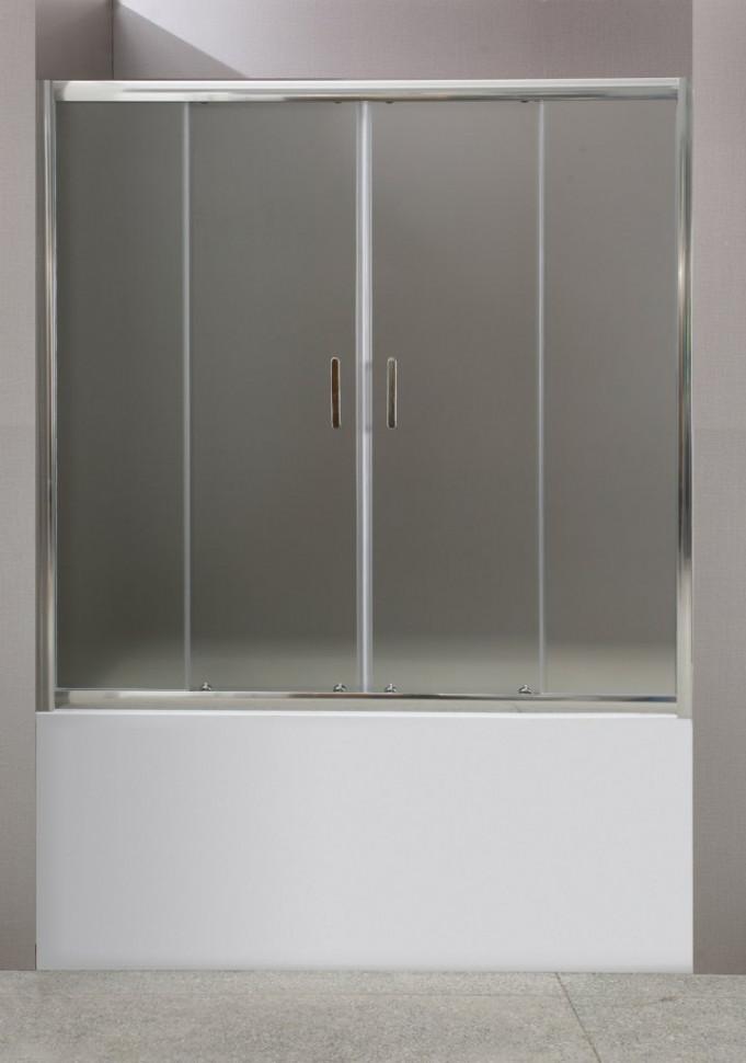 Шторка для ванны BelBagno Uno 170 см текстурное стекло UNO-VF-2-170/145-P-Cr каркас для ванны belbagno bb103 170 75 mf