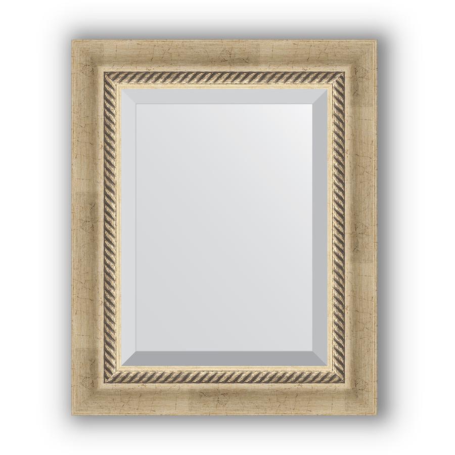 Зеркало 44х54 см состаренное серебро с плетением Evoform Exclusive BY 1354 зеркало evoform exclusive 133х53 состаренное серебро с плетением