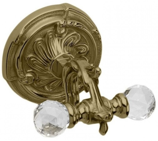 Крючок двойной бронза Art&Max Barocco Crystal AM-1784-Br-C