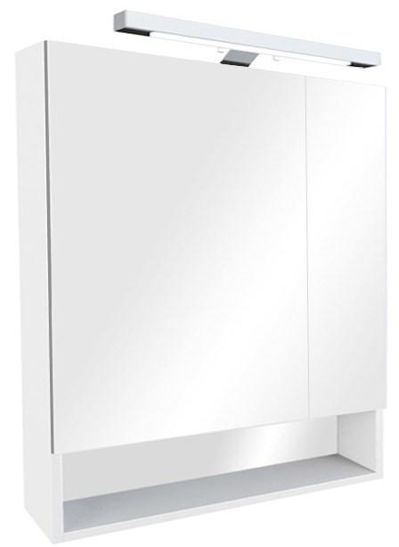 цена Зеркальный шкаф белый глянец 80х85 см Roca The Gap ZRU9302887 в интернет-магазинах