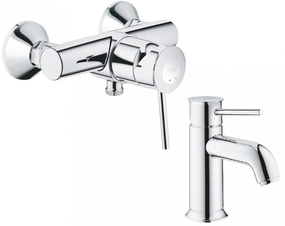 Комплект смесителей Grohe BauClassic 32867000 + 23162000 смеситель для душа grohe bauclassic хром 32867000