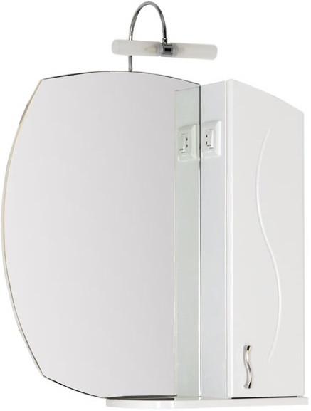 Зеркальный шкаф 75,4х82,4 см белый Aquanet Моника 00186774