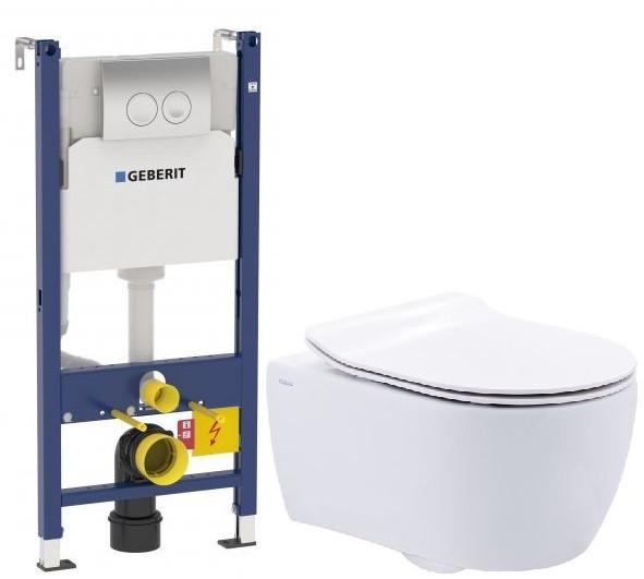 Комплект подвесной унитаз SSWW NC2038 + система инсталляции Geberit 458.124.21.1 комплект подвесной унитаз ssww ct2038vblack система инсталляции geberit 111 300 00 5