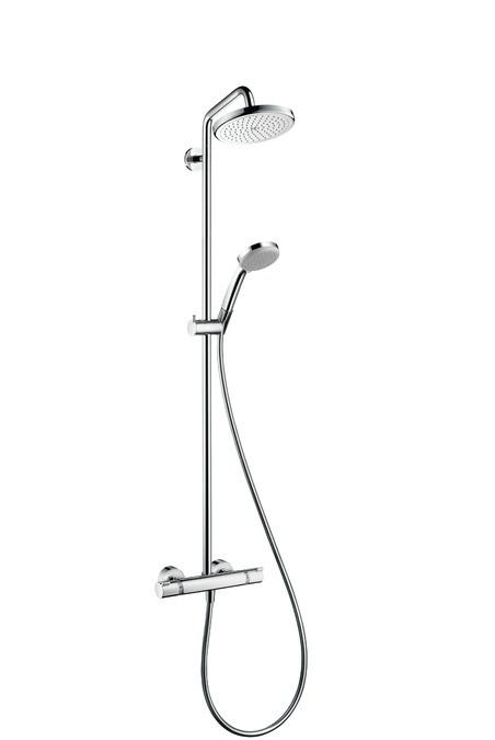 Душевая система Hansgrohe Croma 220 Showerpipe 27185000 набор душевой croma 100 vario