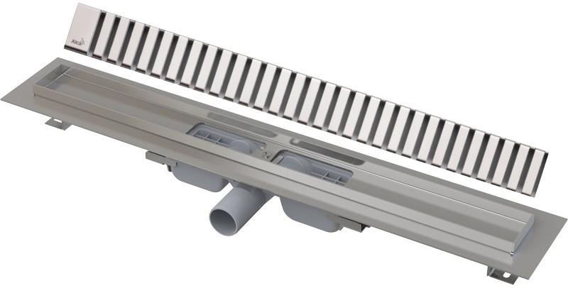 Душевой канал 294 мм глянцевый хром AlcaPlast APZ101 Line APZ101-300 + LINE-300L фото
