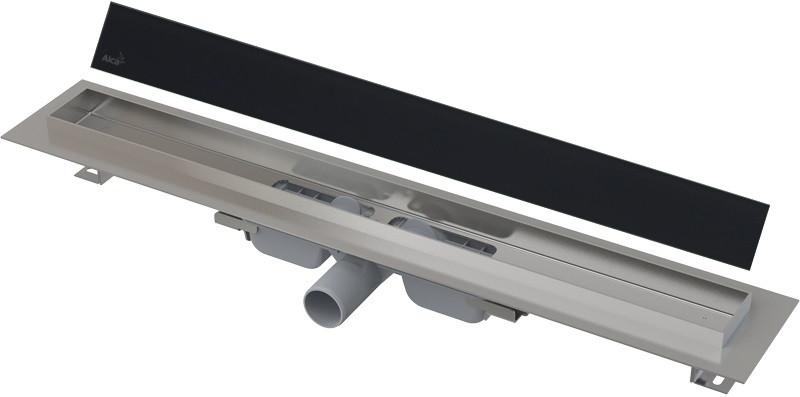 Душевой канал 744 мм черный AlcaPlast APZ106 Glass APZ106-750 + GL1204-750 фото