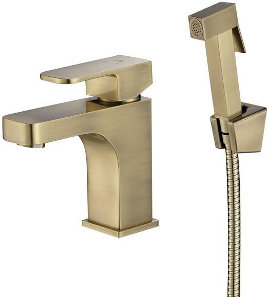 Смеситель для раковины с гигиеническим душем Kaiser Sonat 34088-1 фото