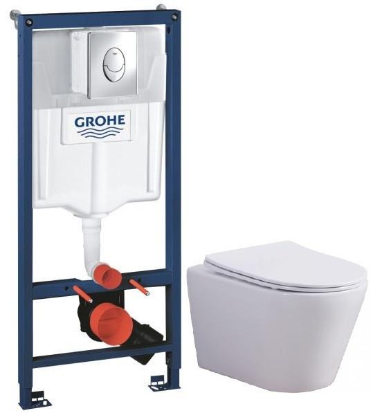 Комплект подвесной унитаз Esbano Clavel W + система инсталляции Grohe 38721001 фото