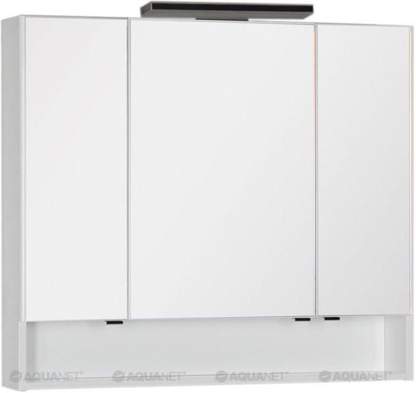 Зеркальный шкаф 97,5х86 см белый Aquanet Виго 00183399