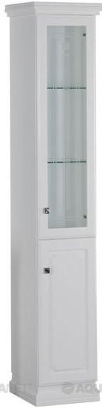 Пенал напольный белый Aquanet Фредерика 00175755 зеркало aquanet фредерика 171273