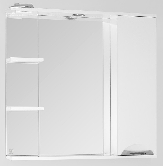 Фото - Зеркальный шкаф 80х83 см белый глянец Style Line Жасмин LC-00000044 зеркальный шкаф 50х83 см венге белый глянец style line панда стиль lc 00000086