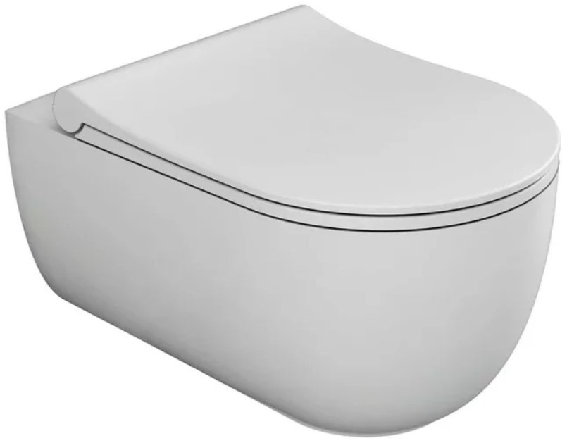 Фото - Подвесной безободковый унитаз с сиденьем микролифт Bien Vokha MDKA052N1VP0W3000 подвесной безободковый унитаз с сиденьем микролифт bien moly mlka052n1vp0w3000