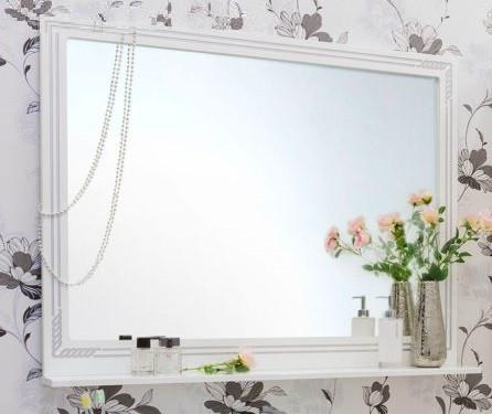 цена Зеркало 117,1х88,4 см белый серебряная патина Sanflor Элен H0000000183 онлайн в 2017 году