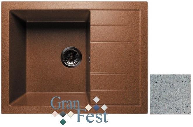 Кухонная мойка серый GranFest Quadro GF-Q650L цена