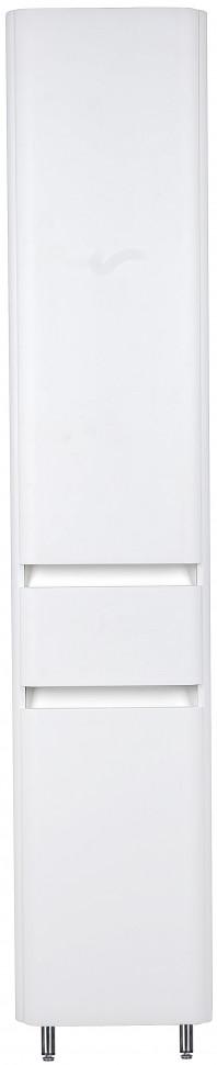 Пенал напольный белый с бельевой корзиной El Fante Атлантика LC00000694