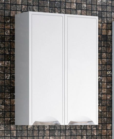 Шкаф двустворчатый подвесной 55х70 см белый глянец Corozo Монро SD-00000367 фото