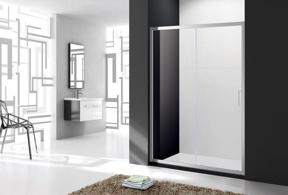 Душевая дверь 160 см Cezares MOLVENO-BF-1-160-C-Cr-IV прозрачное