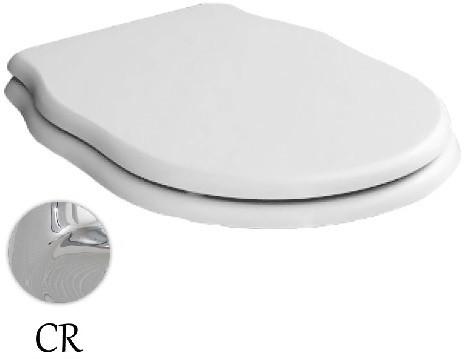 Сиденье для унитаза с микролифтом белый/хром Artceram Hermitage HEA005 01 71 bi/cr сиденье для унитаза с микролифтом орех бронза artceram hermitage hea004 72 noce br