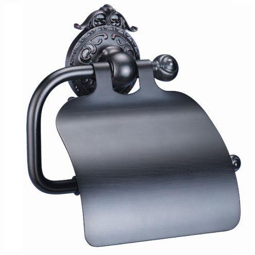 Держатель туалетной бумаги с крышкой Hayta Antic Brass 13903-4/VBR