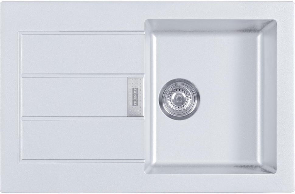 Фото - Кухонная мойка Tectonite Franke Sirius SID 611-78 полярный белый 114.0443.346 врезная кухонная мойка 56 см franke sid 610 полярный белый