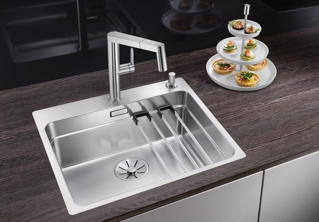 Кухонная мойка Blanco Etagon 500-IF/A InFino зеркальная полированная сталь 521748 кухонная мойка blanco claron 500 if infino зеркальная полированная сталь 521576