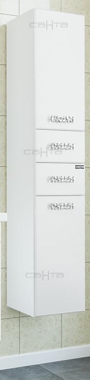 Пенал подвесной белый глянец Санта Ливерпуль 710008