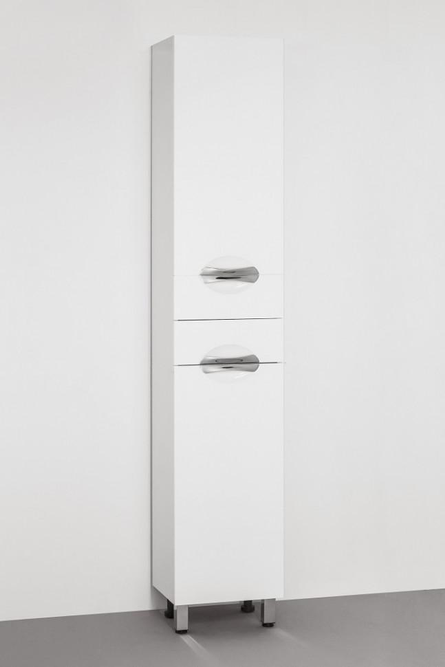 Пенал напольный белый глянец Style Line Жасмин LC-00000045 цена и фото