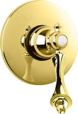 Встраиваемый смеситель для душа золото 24 карат, ручка золото 24 карат Cezares Margot MARGOT-DIM-03/24-M