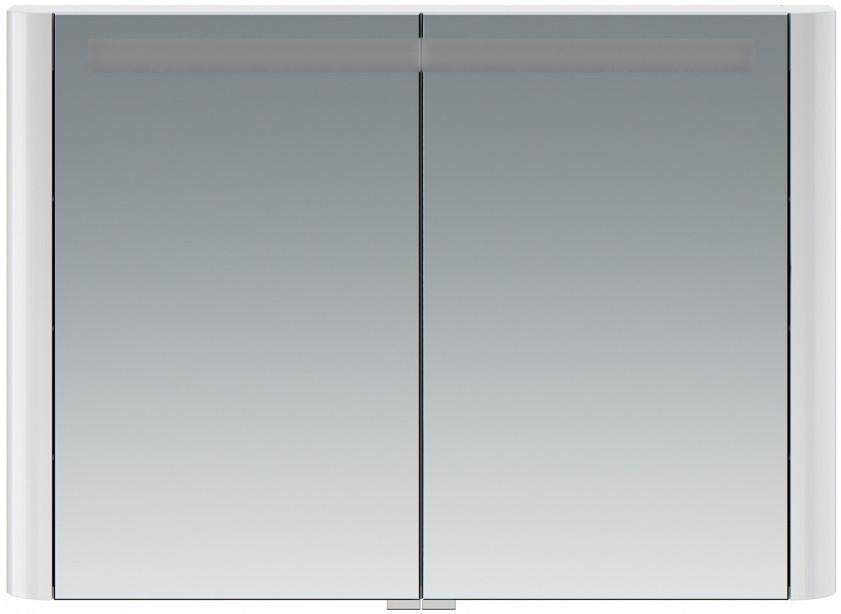 Зеркальный шкаф 100х70 см белый глянец Am.Pm Sensation M30MCX1001WG