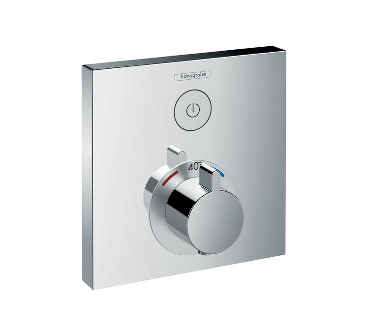 Фото - Встраиваемый термостат для душа Hansgrohe ShowerSelect 15762000 переключатель потоков для душа hansgrohe showerselect 15736400