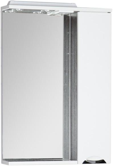 Зеркальный шкаф 60х87 см с подсветкой белый/венге Aquanet Гретта 00173994 цена в Москве и Питере