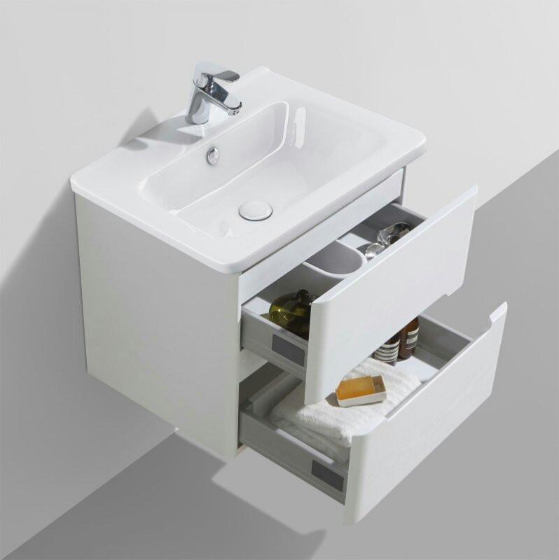 Тумба с раковиной белый глянец 105,7 см BelBagno Luxury LUXURY-1050-2C-SO-BL-12105-KL-T
