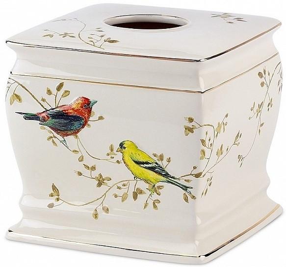 цена Бокс для салфеток Avanti Gilded Birds 11984E в интернет-магазинах