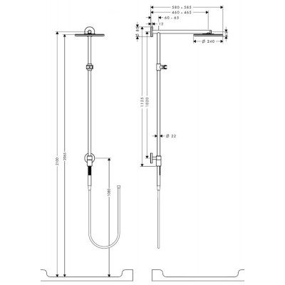 Душевая система Hansgrohe Raindance S 240 Showerpipe Connect 27164000
