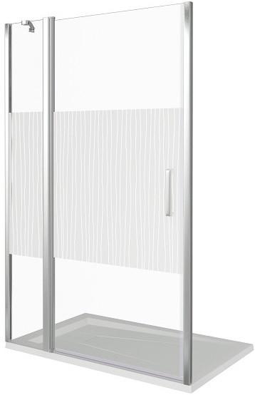 Душевая дверь 140 см Good Door Pandora WTW-140-T-CH прозрачный с рисунком душевая дверь 140 см good door puerta wtw 140 c ch прозрачное