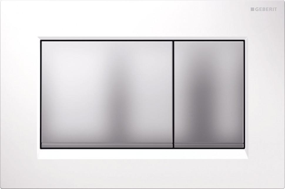 Фото - Смывная клавиша Geberit Sigma30 белый/матовый хром/матовый хром для двойного смыва 115.883.KL.1 комплект патрубков geberit для унитаза заглушки крепления матовый хром 152 438 46 1