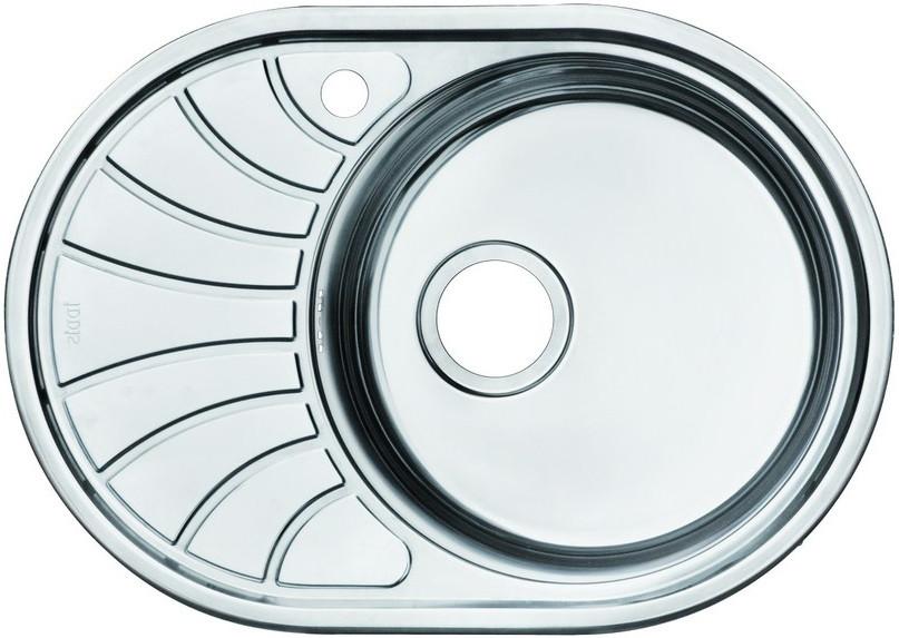 Кухонная мойка полированная сталь IDDIS Suno SUN65PRI77 мойка для кухни нержавеющая сталь полированная чаша справа iddis suno sun65pri77