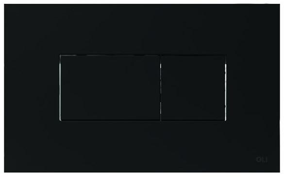 Смывная клавиша OLI Karisma Soft touch черный 641015