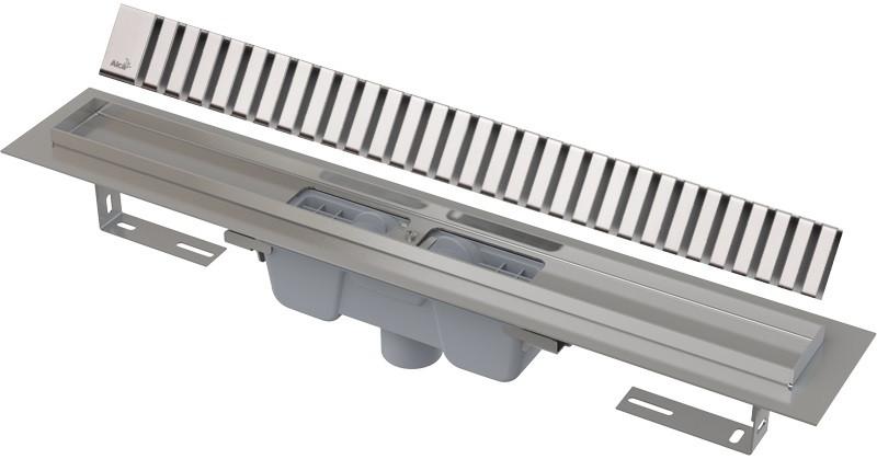 Душевой канал 644 мм глянцевый хром AlcaPlast APZ1001 Line APZ1001-650 + LINE-650L фото