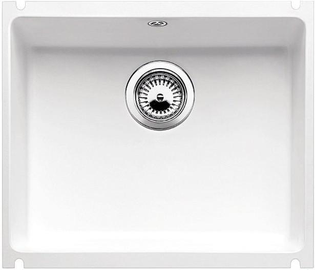 Кухонная мойка Blanco Subline 500-U глянцевый белый 514506 кухонная мойка blanco subline 500 u 514506