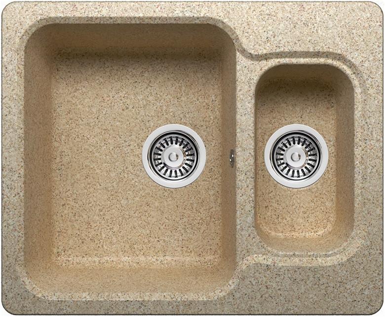 Кухонная мойка Polygran песочный F-09 №302 кухонная мойка polygran f 05 302 45 песочная