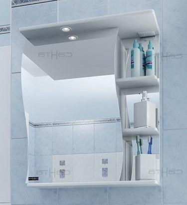 Зеркальный шкаф 50х72 см белый глянец Санта Волна 101007 подушка primavelle 50х72 см evcalina