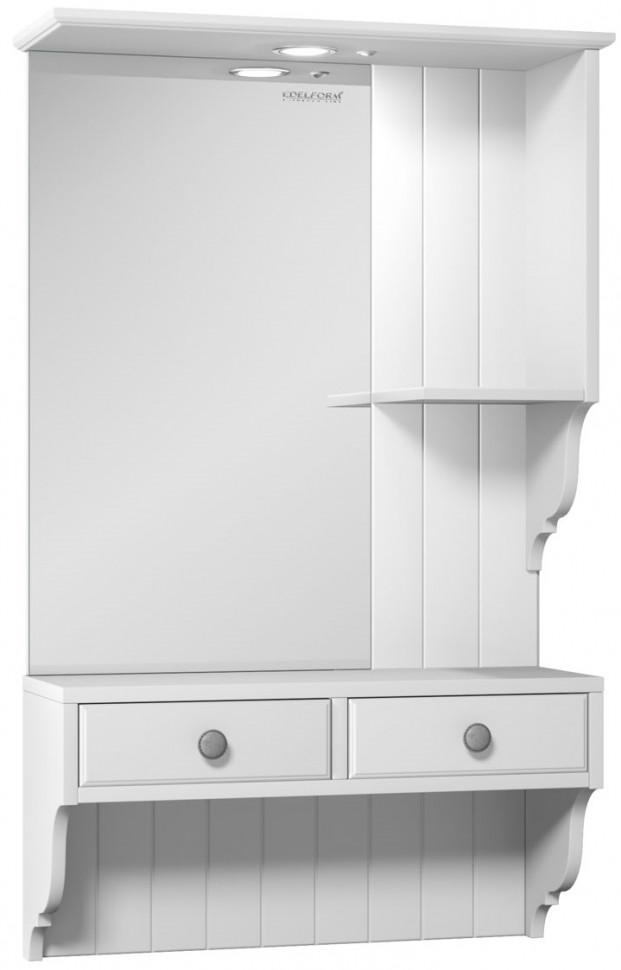 зеркальный шкаф edelform уника 100 белый с дуб гальяно 2 741 45 s Зеркальный шкаф белый матовый 60,2х97,7 см Edelform Dijon 2-263-032-S