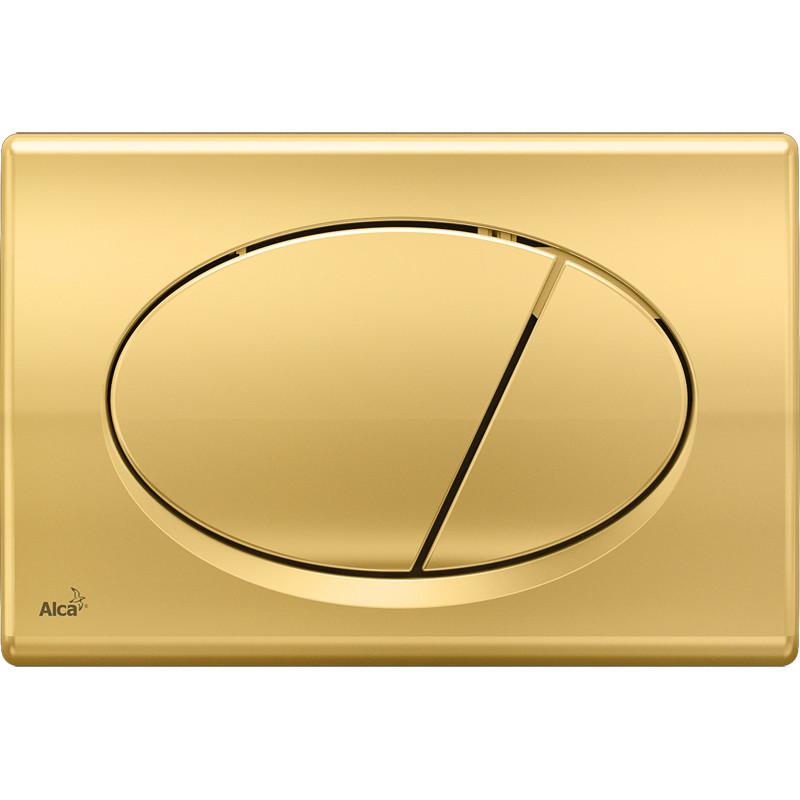 Смывная клавиша золото для двойного смыва AlcaPlast M75 цена