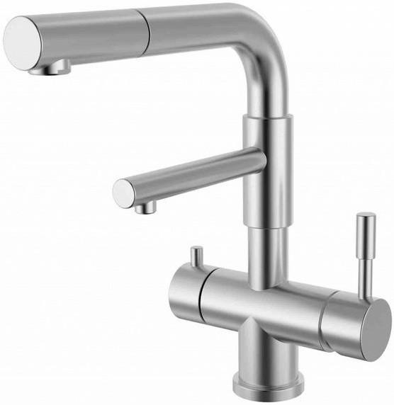 Смеситель для кухни с подключением к фильтру Zorg Inox SZR-1068P-D все цены